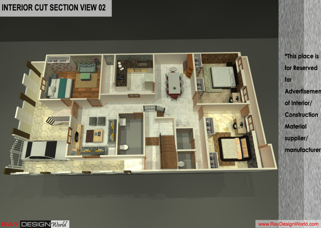 Mr.Santosh Chaturvedi-Varanasi UP-Bunglow-3D Cut Section view-02