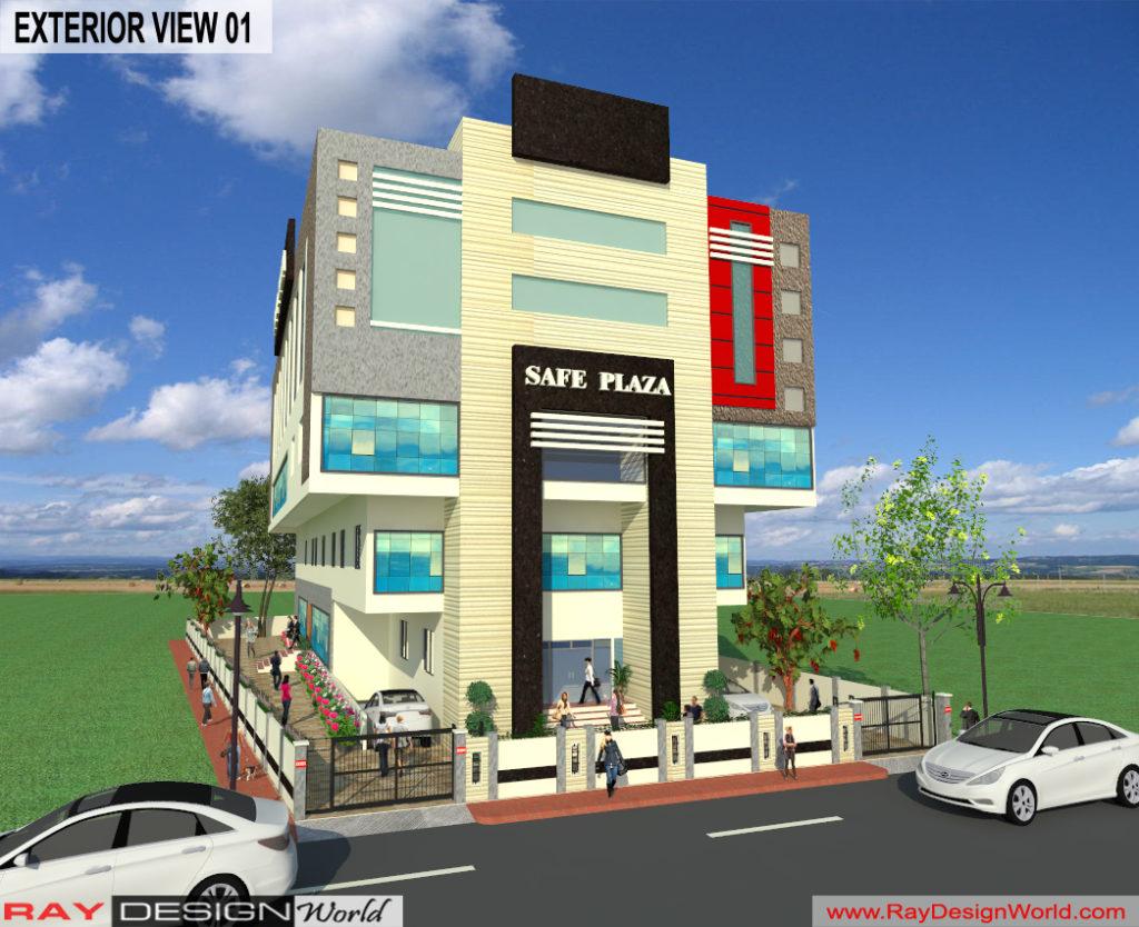 Mr. Srinivas Sudala-Nabarangpur Odisha- Shopping Complex with Multiplex-3d Exterior View-01