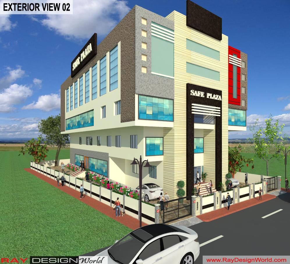 Mr. Srinivas Sudala-Nabarangpur Odisha- Shopping Complex with Multiplex-3d Exterior View-02