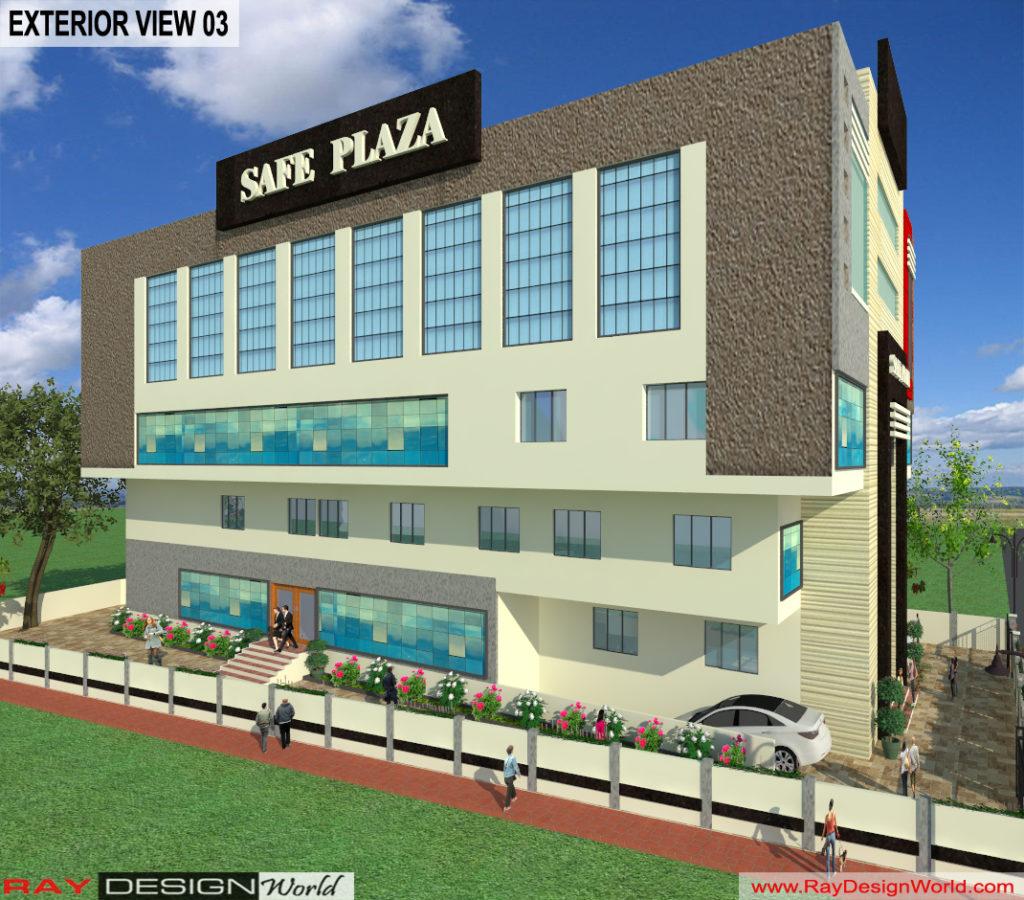 Mr. Srinivas Sudala-Nabarangpur Odisha- Shopping Complex with Multiplex-3d Exterior View-03