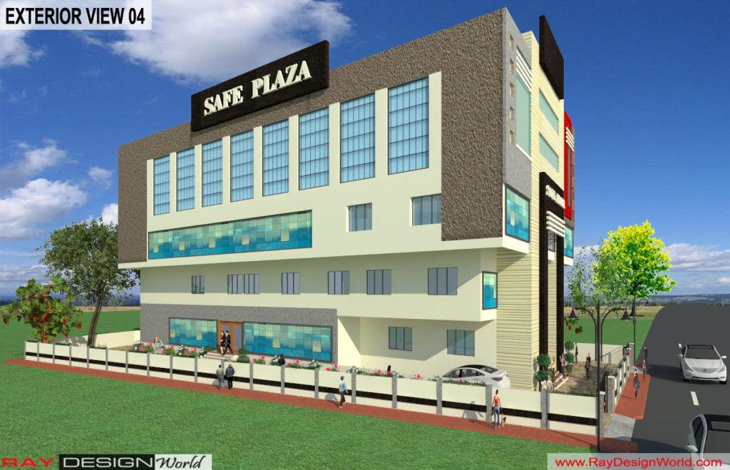 Mr. Srinivas Sudala-Nabarangpur Odisha- Shopping Complex with Multiplex-3d Exterior View-04