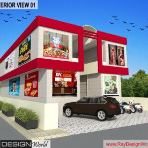 Shopping Complex 3D Exterior view 02 - Nandyal Andhra Pradesh - Mr. Talikota Nagaraju