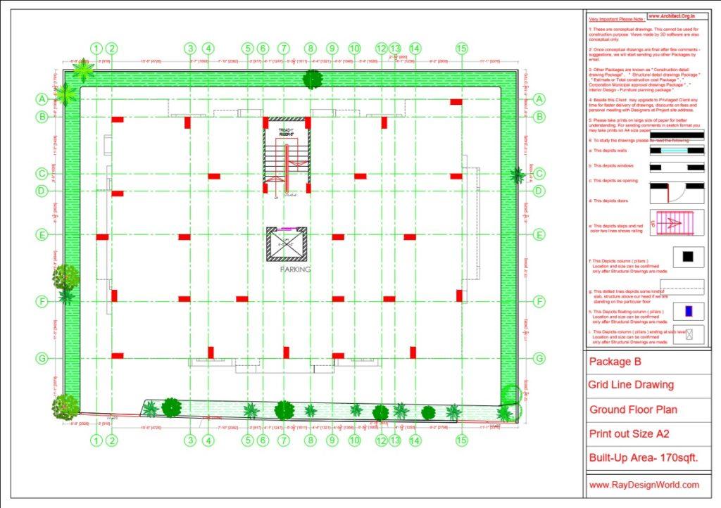 Mr.Arul-Madipakkam chennai-Apartment -Ground Floor Plan -Package B Grid Line