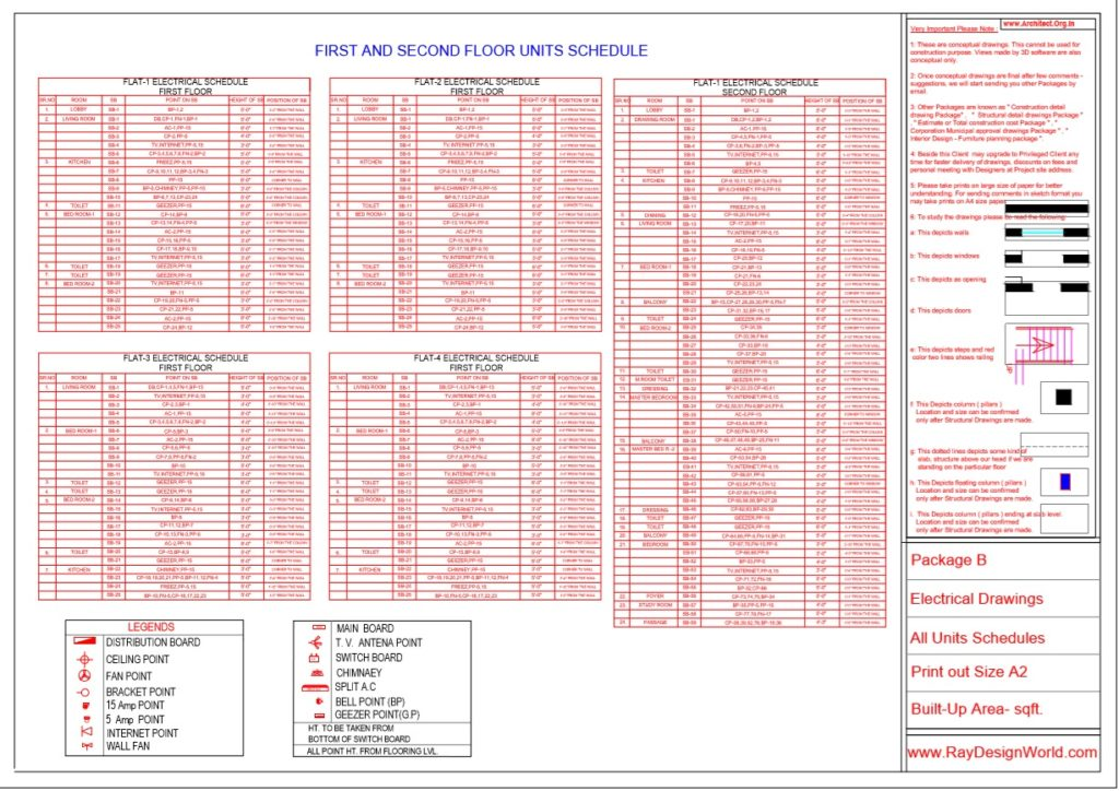 Mr.Arul-Madipakkam chennai-Apartment-Package B First And Second Floor Units Schedules