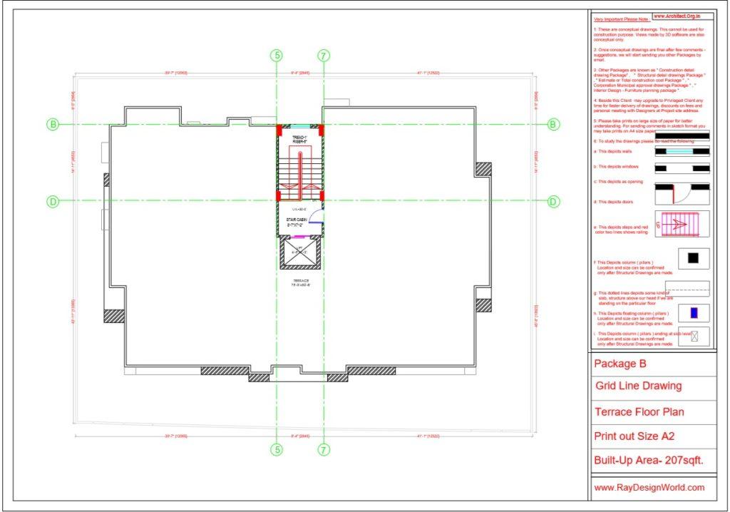 Mr.Arul-Madipakkam chennai-Apartment -Terrace Floor Plan -Package B Grid Line