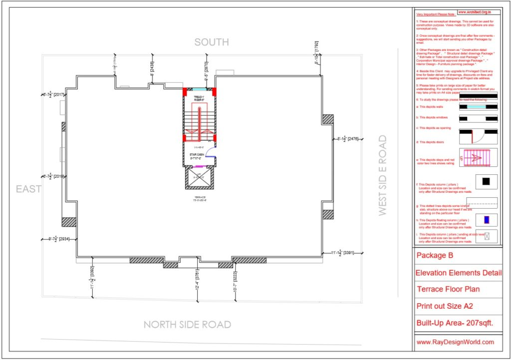 Mr.Arul-Madipakkam chennai-Apartment-Terrace Floor plan-Package B