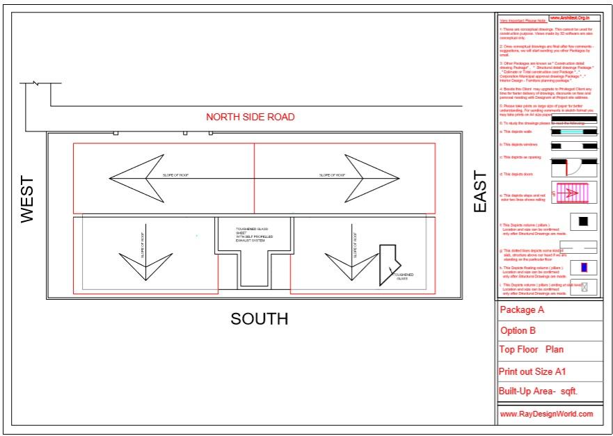 Mr.Austin Dias-Mangalore Karnataka-Bungalow-Top Floor Plan