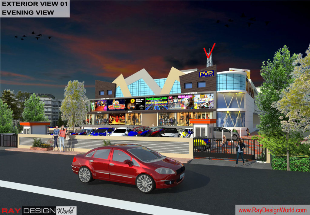 Mr.Bichitra Patnaik-NH 16 Brahmapur Odisha-Pro-D-Multiplex Shopping Complex-3D Exterior view-01