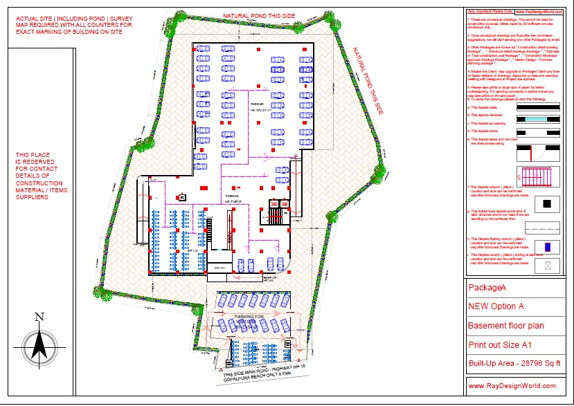 Mr.Bichitra Patnaik-NH 16 Brahmapur Odisha-Pro-D-Multiplex-Shopping Complex-Basement Floor plan
