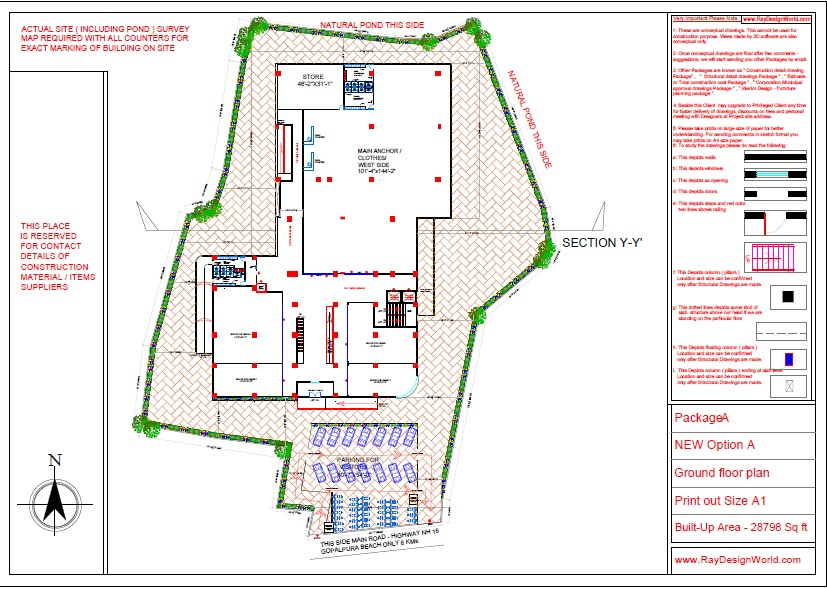 Mr.Bichitra Patnaik-NH 16 Brahmapur Odisha-Pro-D-Multiplex Shopping Complex-Ground Floor plan