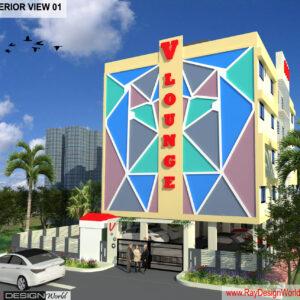 Mr.Bichitra Patnaik-R C Das Lane Brahmapur Odisha-Office Building-Pro-F-3D Exterior view-01