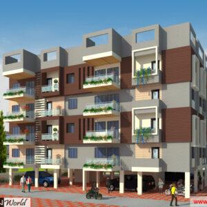 Mr.Bichitra Patnaik - Ramanagar Odisha - Apartment -3d Exterior View 01