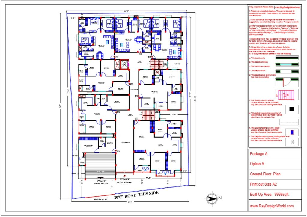 Mr.Bikas Poddar -Bhagalpur Bihar- Apartment Ground Floor Plan