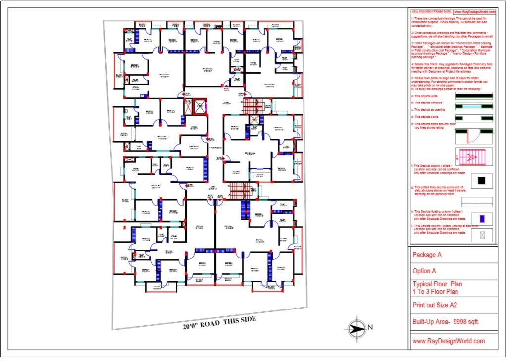 Mr.Bikas Poddar -Bhagalpur Bihar- Apartment Typical Floor Plan