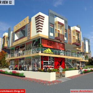 Mr.Dinesh dhage - Akola Maharashtra - Commercial Complex-3d Exterior View 02
