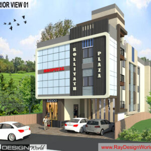 Mr.Faisal-Kolliyath-Perintalmanna-Kerala-Commercial Complex-3D-Exterior-view-01