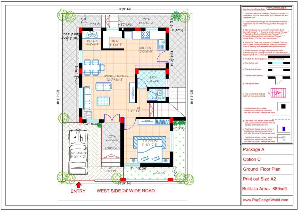 Mr.Kiran -Vijaypur karnataka-Bungalow- Ground Floor Plan