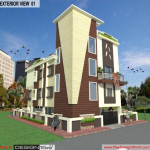 Mr.Kishor-Soni-Aurangabad-Maharashtra-Bungalow-3D-Exterior-View-01