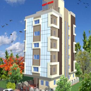Mr.Kuldeep Singh-Lucknow UttarPradesh-Guest House-3D Exterior view -01