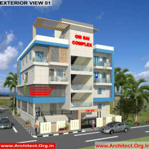 Mr.Manish-Lucknow UP-Commercial Complex-3D Exterior View-01