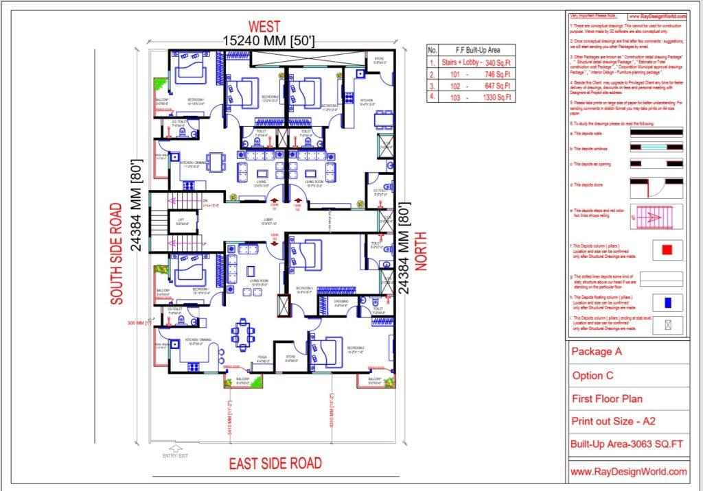 Mr.Narendra Kumar Tripathi-Lucknow Up-Apartment-First Floor Plan
