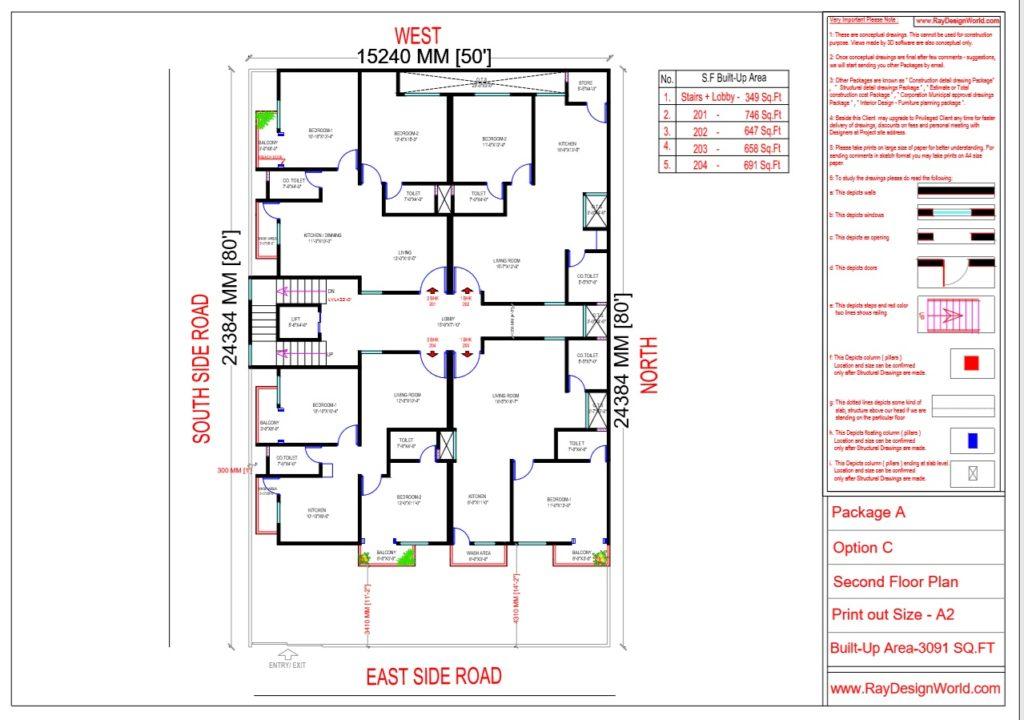 Mr.Narendra Kumar Tripathi-Lucknow Up-Apartment-Second Floor Plan