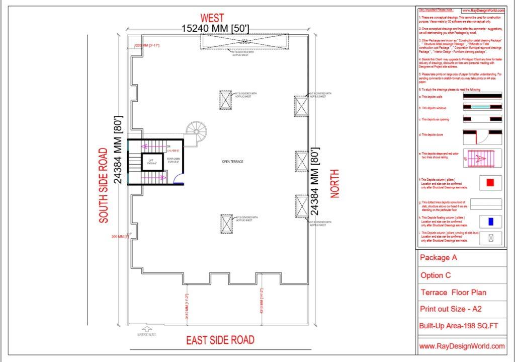 Mr.Narendra Kumar Tripathi-Lucknow Up-Apartment-Terrace Floor Plan