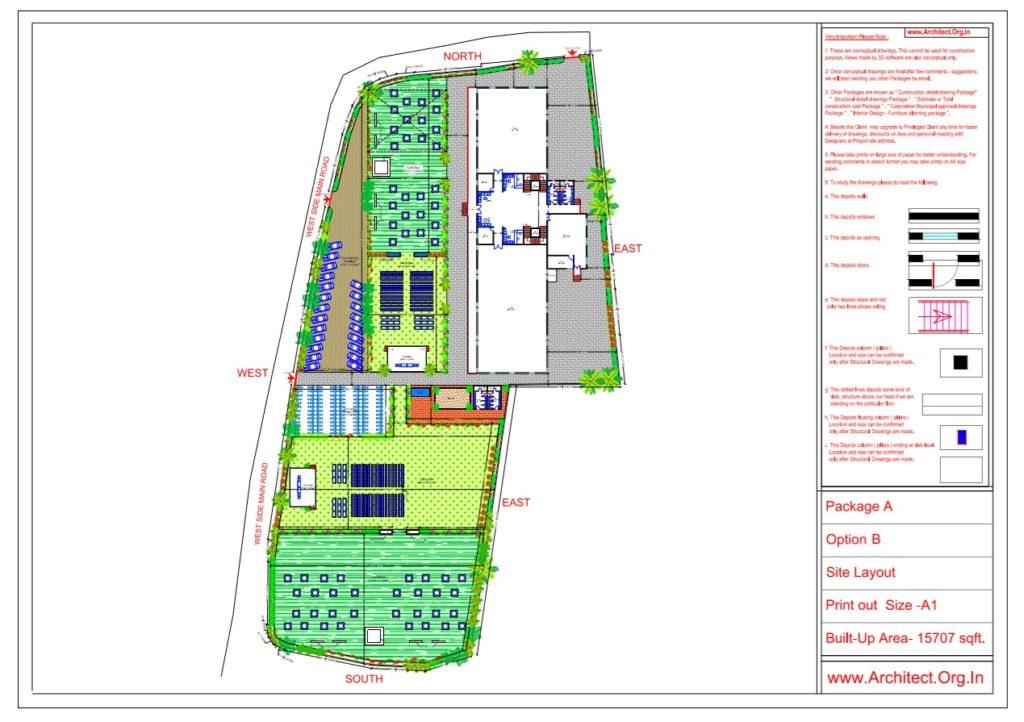 Mr.Nitesh Dalal - Ujjain MP - Marriage Hall-Site Layout