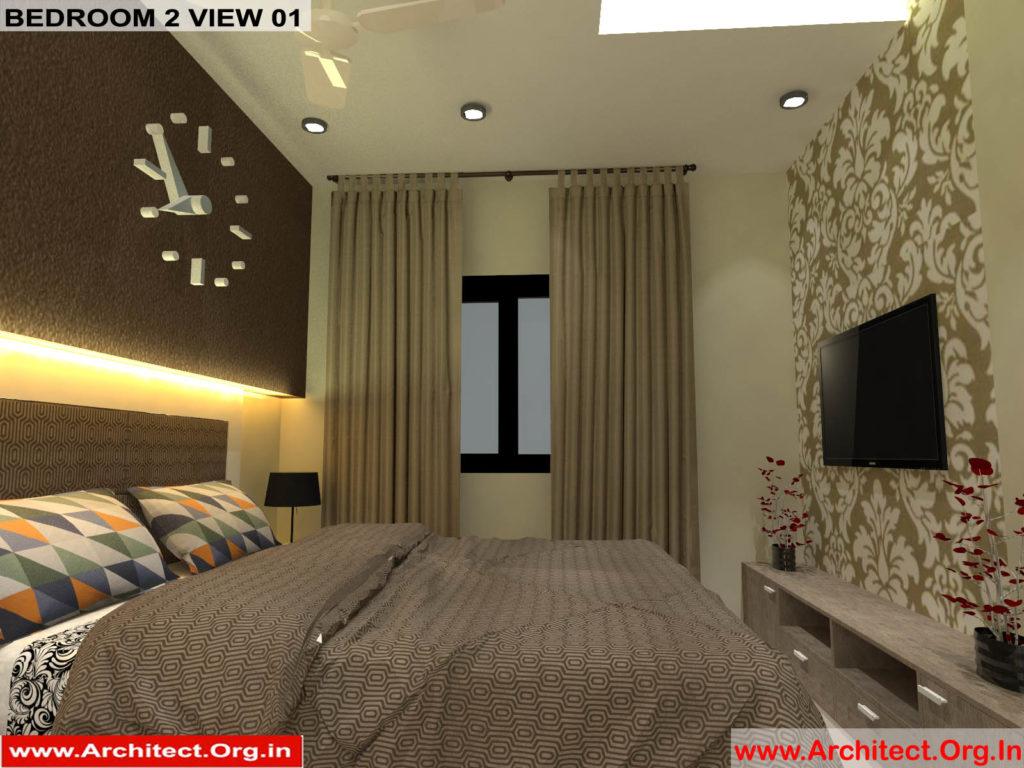 Mr.Pankaj Singhania-FR-Ms.Rakhi Singhania-Nagpur Maharashtra-House Interior-Bedroom-2 view-01