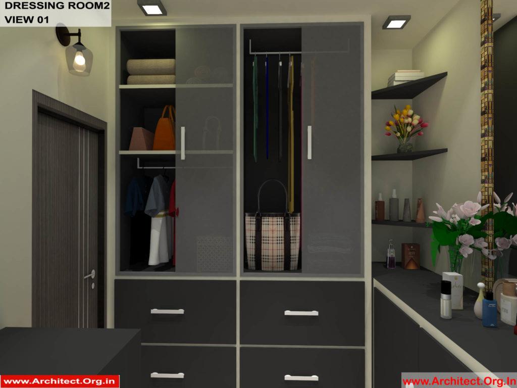 Mr.Pankaj Singhania-FR-Ms.Rakhi Singhania-Nagpur Maharashtra-House Interior-Dress room-2-view-01
