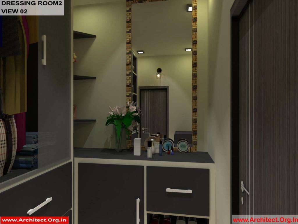 Mr.Pankaj Singhania-FR-Ms.Rakhi Singhania-Nagpur- -House Interior-Dress room-2-view-02