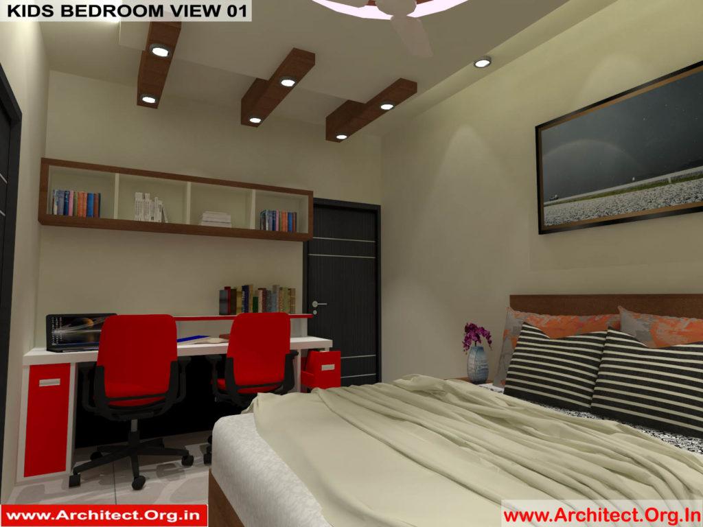Mr.Pankaj Singhania-FR-Ms.Rakhi Singhania-Nagpur Maharashtra-House Interior-Kids bedroom-view-01