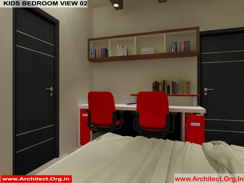 Mr.Pankaj Singhania-FR-Ms.Rakhi Singhania-Nagpur Maharashtra-House Interior-Kids bedroom-view-02
