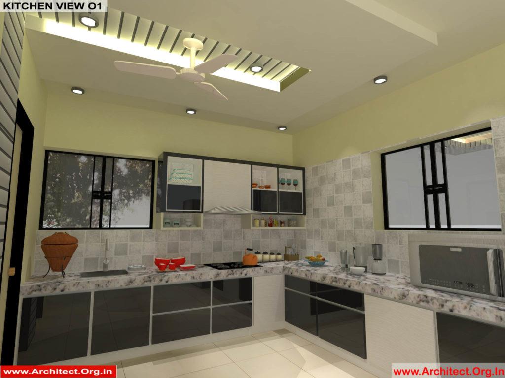 Mr.Pankaj Singhania-FR-Ms.Rakhi Singhania-Nagpur Maharashtra-House Interior-Kitchen-View-01