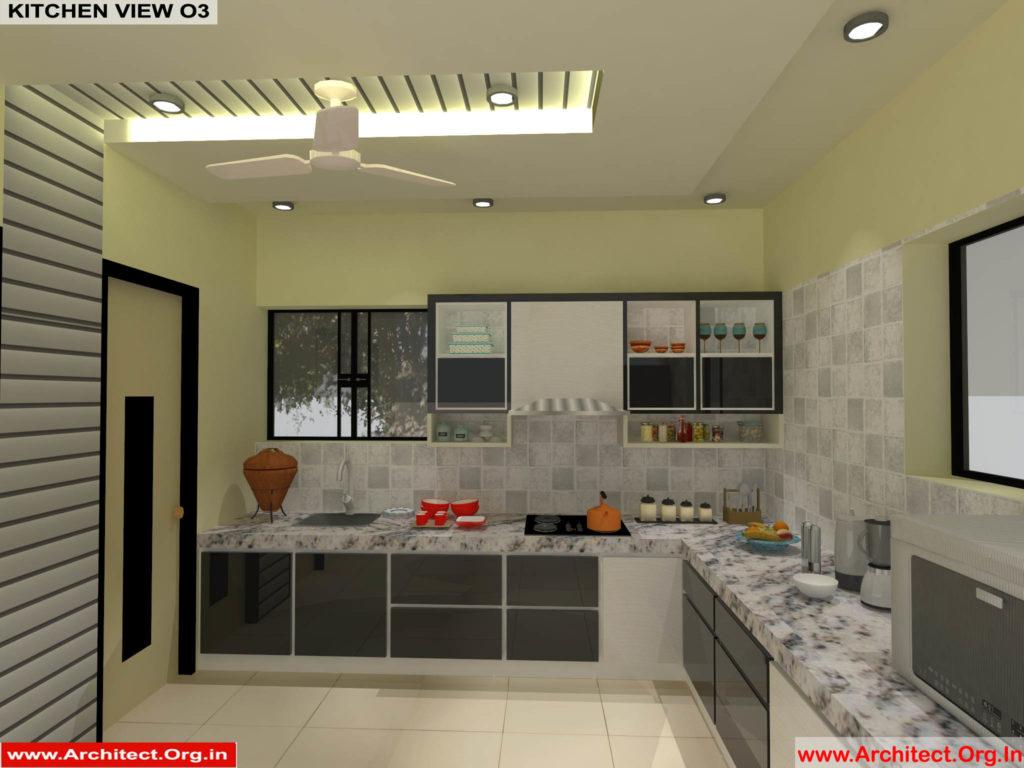 Mr.Pankaj Singhania-FR-Ms.Rakhi Singhania-Nagpur Maharashtra-House Interior-Kitchen-View-03