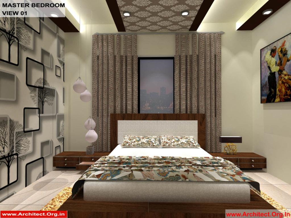 Mr.Pankaj Singhania-FR-Ms. Rakhi Singhania-Nagpur Maharashtra-House Interior-Master bedroom-view-01