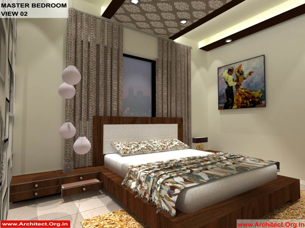 Mr.Pankaj Singhania-FR-Ms. Rakhi Singhania-Nagpur Maharashtra-House Interior-Master bedroom-view-02