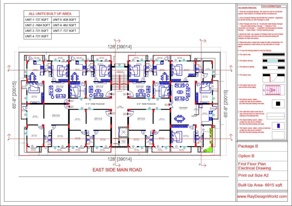 Mr.Rajesh kumar - Nawada Bihar - Apartment- First Floor Plan-Option A