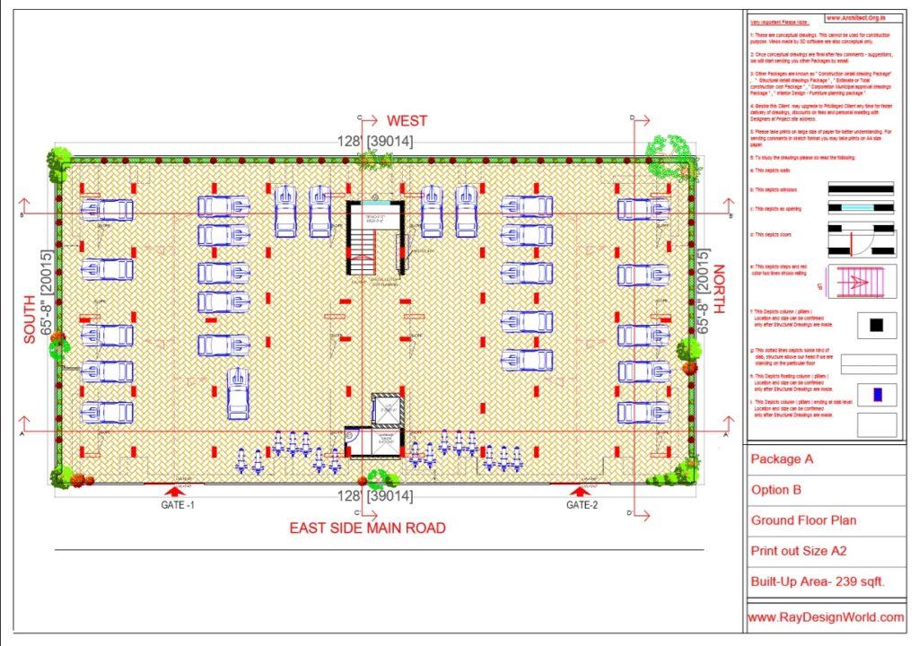 Mr.Rajesh kumar - Nawada Bihar - Apartment- Ground Floor Plan-Option A