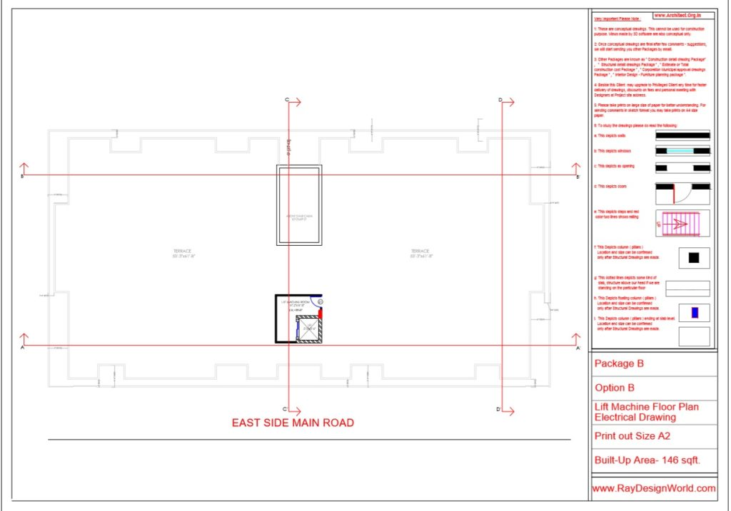 Mr.Rajesh kumar - Nawada Bihar - Apartment- Lift Machine Floor Plan-Option A