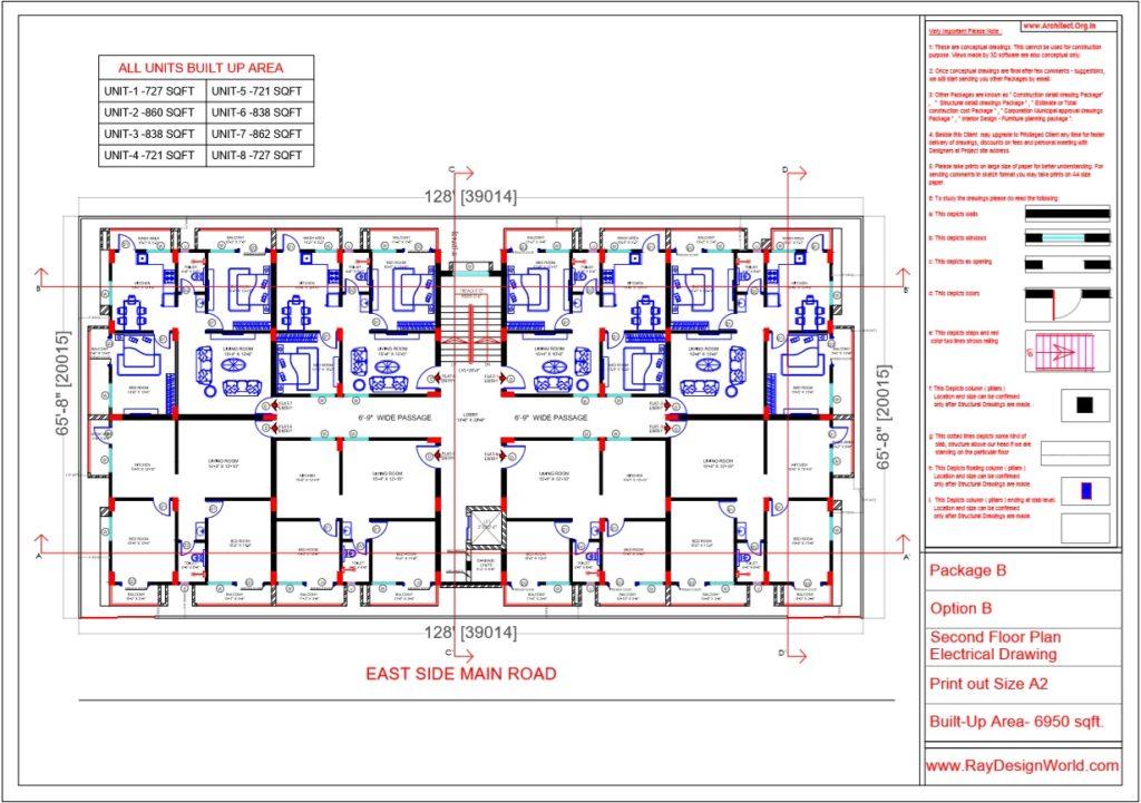 Mr.Rajesh kumar - Nawada Bihar - Apartment- Second Floor Plan-Option A