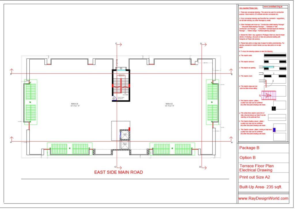 Mr.Rajesh kumar - Nawada Bihar - Apartment-Terrace Floor Plan-Option A
