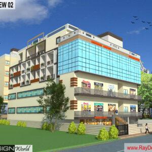 Mr.Rakesh Kapri-Vashi Mumbai-Commercial complex-3D Exterior View-02