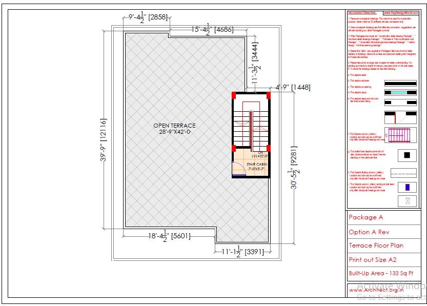 Mr.Sainath-FR-Devid Raynell-Chennai Tamilnadu-Bunglow-Terrace floor plan