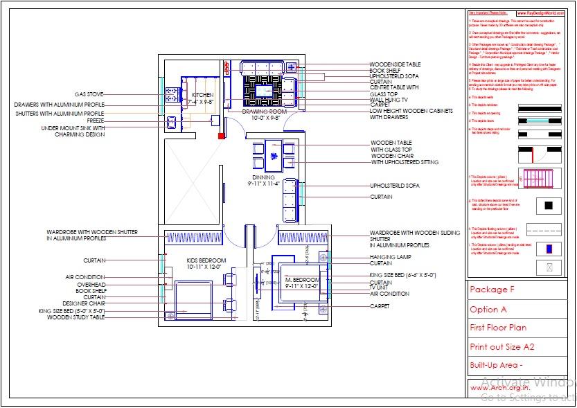 Mr.Shibu-Cuttuck Odisha-House interior-Furniture Layout