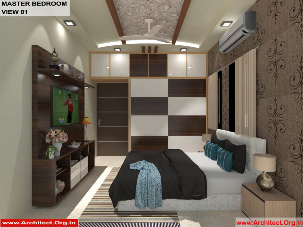 Mr.Shibu-Cuttuck Odisha-House interior-Master bedroom-View-01