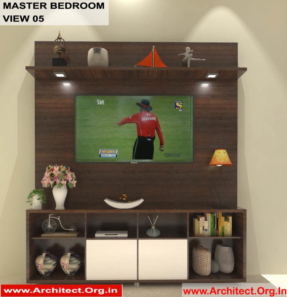 Mr.Shibu-Cuttuck Odisha-House-interior-Master bedroom-View-05