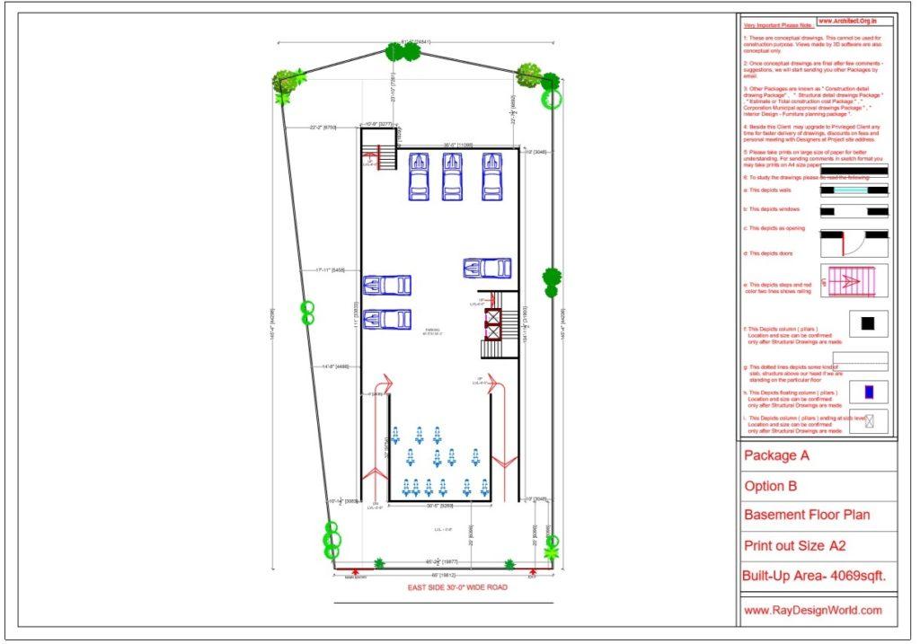 Mr.Srinivas Sudala-Nabarangpur Odisha- Shopping Complex with Multiplex- Basement Floor Plan