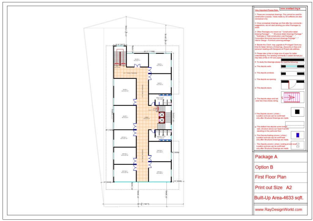 Mr.Srinivas Sudala-Nabarangpur Odisha- Shopping Complex with Multiplex- First Floor Plan