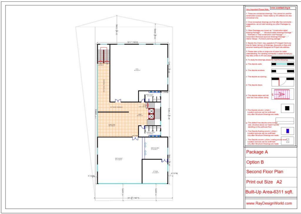 Mr.Srinivas Sudala-Nabarangpur Odisha- Shopping Complex with Multiplex- Second Floor Plan